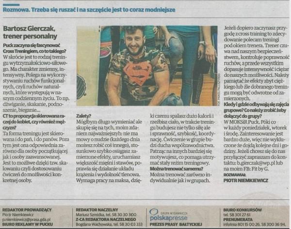 wywiad dziennik Baltycki FitByG